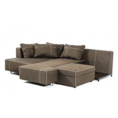 Camden Modern Fabric Sectional Sofa W/ Chaise