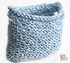 Carry Basket - hat loom - free knit pattern