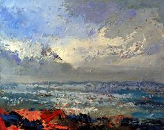 Seascape Art, Abstract, Artwork, Painting, Work Of Art, Painting Art, Paintings, Paint, Draw