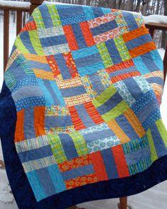 Muster für 'Denim Rails' Recycling-Denim Jeans Quilt