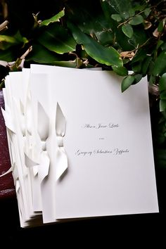 classic white on white theme for the order of services
