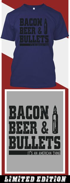 Bacon Beer Bullets - Limited edition. Order 2 or more for friends/family & save on shipping! Makes a great gift!