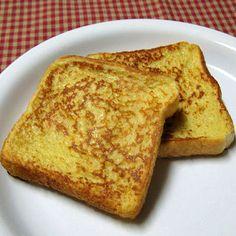 Eggnog french toast w/ eggnog syrup
