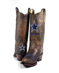 c642a5fdf Old Pro Leather Women s Dallas Cowboys NFL Boot ~ღ~ Dallas Cowboys Boots