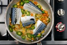 Spicy Mackerel with Chiles and Tomato