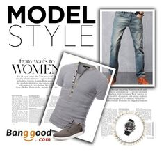 """""""Banggood I/7"""" by almir-camdzic ❤ liked on Polyvore featuring men's fashion and menswear"""