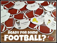 Are you ready for some football?  Fun activity for practicing sight words.