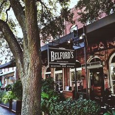 Enjoying outdoor dining in Savannah at Belford's in City Market! Delicious seafood, steaks and Southern food.