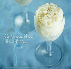 Cardamom Rose Rice Pudding