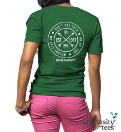 Perfect design for #PiPhi Dad's Day! #PiBetaPhi #Sorority   Made by University Tees   www.universitytees.com
