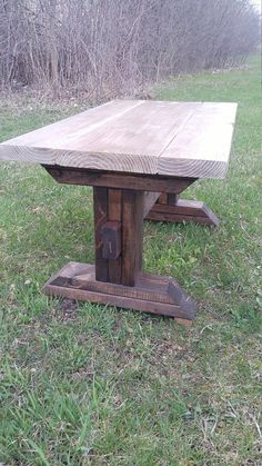 Rustic Elements Furniture Round Hickory 4 Post Pedestal Table Table Furniture Kitchen Redo