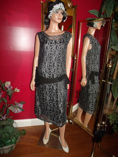 Reproduction  20s Theme   Flapper Dress Great by ludascrafts, $119.99