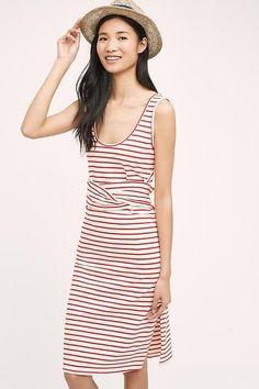 NEW ANTHROPOLOGIE Size XL $138 Striped Tank Dress Maeve Red Cotton Womens NWT #Anthropologie #SummerBeach