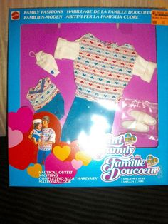 NIB THE HEART FAMILY DOLL DAD & BABY FASHIONS NAUTICAL OUTFIT FOREIGN BOX #Mattel #ClothingShoes