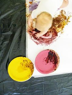 #kidscrafts #kidsart have your little one paint with different jams and preserves! good idea! they'll have so much fun getting messy! and the colors  turn out great!