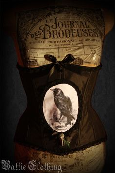 Nevermore Steel Boned Underbust Corset Custom by BattieClothing