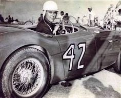 1955 Austin-Healey 100S. Jackie Cooper at Sebring in 1955
