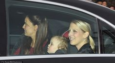 Maud Windsor (centre), now two years old, is the first born child of Lord and Lady Frederi...