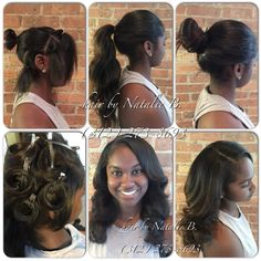 I'm constantly asked how long your hair has to be to achieve a high bun or ponytail with one of my signature PERFECT PONY™ Sew-In Hair Weaves, and the answer is at least 4-5 inches long...I hope this helps!❤️ ...PERFECT PONY SEW-IN HAIR WEAVES by Natalie B. (312) 273-8693...IG: @iamhairbynatalieb...FACEBOOK: Hair by Natalie B. .....ORDER HAIR: www.naturalgirlhair.com.  ‼️‼️‼️For appointments or information about my rates, please call or text me at 312-273-8693.