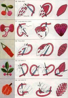 Crewel Embroidery Tutorial Hasil gambar untuk basic embroidery stitches for beginners Embroidery Stitches Tutorial, Sewing Stitches, Crewel Embroidery, Hand Embroidery Designs, Vintage Embroidery, Embroidery Techniques, Ribbon Embroidery, Cross Stitch Embroidery, Embroidery Patterns