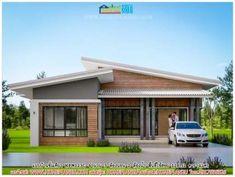 Modern Bungalow Designs Plans - Modern Bungalow Designs Plans , House Plans with 2 Bedrooms Gable Roof Modern Bungalow Exterior, Modern Bungalow House, Small House Exteriors, Modern House Plans, Rustic Exterior, Bungalow Designs, Flat Roof House Designs, House Roof Design, Small House Design