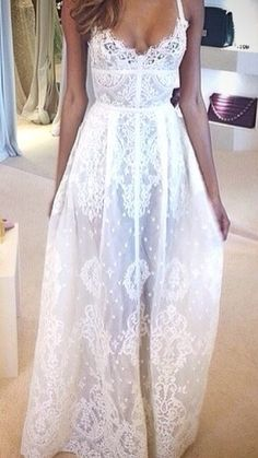 Amazing Elie Saab wedding dress. Looks like a beach wedding meets a church wedding rolled into one bridal gown. Casual and dressed up.