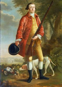 This English School Oil on Canvas, Hunting Scene Oil is in Excellent Overall Condition,c.late 18th Century. Attributed to James Millar the painting features ...