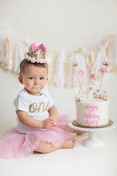 Branford CT Cake Smash | Avery – Maler Photography Pink Gold White