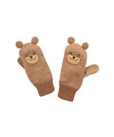Take a look at this Brown Bear Mittens by Kidorable on #zulily today!