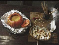 fondue rústico de abóbora