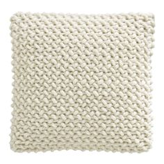 Cream textured pillow