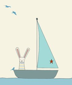 sail away print, fine art print by kate durkin on Etsy, $22.13 AUD