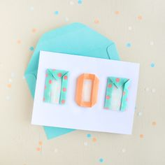 Origami Mother's Day Card 2