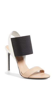 Free shipping and returns on Vince 'Gaudin' Leather Sandal (Women) at Nordstrom.com. An elasticized ankle strap lends mule-inspired elegance to a color-blocked sandal cast in smooth leather.