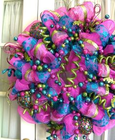 great ideas for deco mesh wreaths