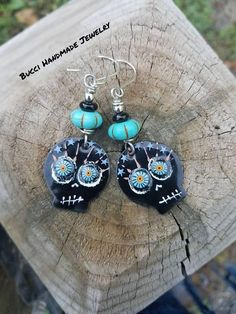 Introductory Price of 44 will be 58 Sugar Skulls Earrings