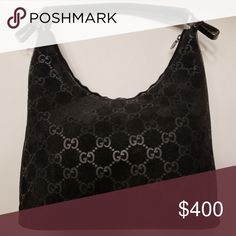 ccb54d71e10 Suede Gucci GG monogram hobo bag COA included Black suede Gucci hobo bag  certificate include and