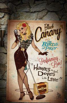 Green Arrow DC Comics New Black Canary bombshell variant cover. Comics Girls, A Comics, Comic Book Covers, Comic Books Art, Harley Quinn, Black Canary Costume, Statues, Comic Style, Super Heroine