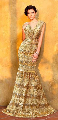 MNM Gold Couture 7208 Dress