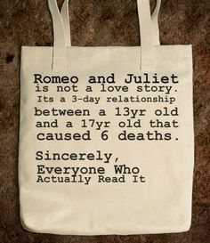 Romeo and Juliet Tote