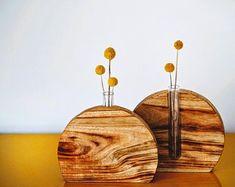 Wooden vase handcrafted decor timber decor home decor Wooden Statues, Wooden Art, Wooden Decor, Wooden Crafts, Vases Decor, Plant Decor, Decoration Plante, Wood Vase, Office Decor