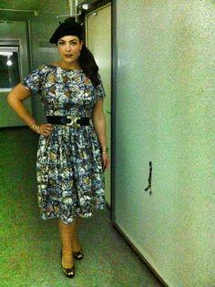 June 8, 2013, Buma Pop Event Groningen Baret: H  Dress: custom made by Cherry Sue Shoes: Jimmy Choo Jewelry: vintage