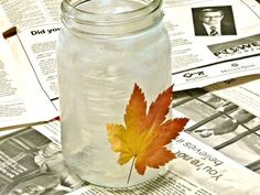 A Little Fall Leaf and Mason Jar Re-use Project | Gingerbread Snowflakes