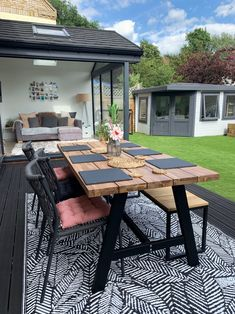 Our Garden Renovation – Katie Ellison - rigcrang. Back Garden Design, Backyard Garden Design, Small Backyard Landscaping, House Extension Plans, House Extension Design, Rear Extension, Patio Edging, Garden Room Extensions, Bungalow Extensions