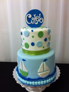 Nautical Baby Shower Cakes | Sugar Refined Custom Wedding Cakes | nautical baby shower cake