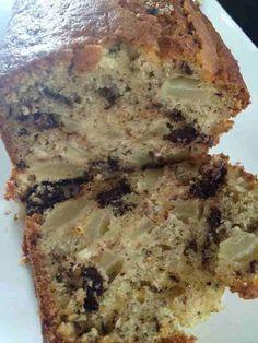 Cake poires chocolat - Rachel cuisine Un Cake, Ww Desserts, Gateaux Cake, Quiche, Banana Bread, Menu, Sweets, Cooking, Healthy