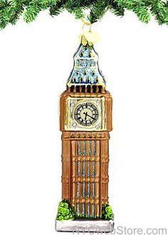Glass Big Ben Ornament