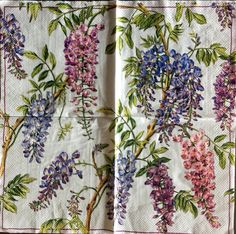 Decoupage Napkins,4+1 FREE Single  Paper Napkins, SPRING FLOWERS, 13 inches (33cm) for Decoupage, Paper-Craft and Collage by kroshkame on Etsy