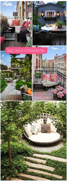 Small deck ideas {click over for 5 inspiring tips for a small deck or patio}