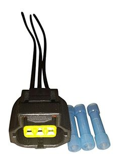 Muzzys- Ford 6G Alternator, Brake Fluid Level Sensor Yellow Connector Plug Pigtail 3 Wire WPT118 1U2Z-14S411-TA S821
